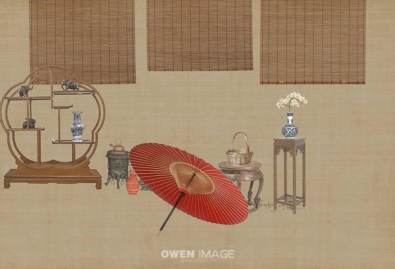 中国风工笔画人像素材下载